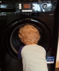 watching the washing machine