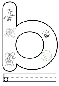 b colouring pages
