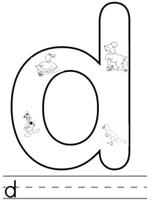 letter d colouring
