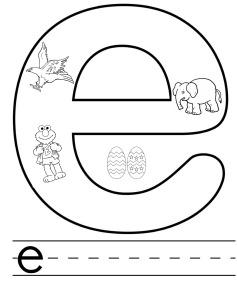 letter e colouring