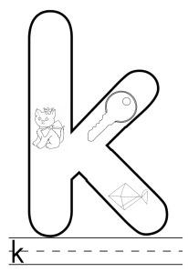 letter k colouring